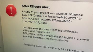 Photo of After Effectsのレンダーキューを使用時にクラッシュする場合のトラブルシューティング